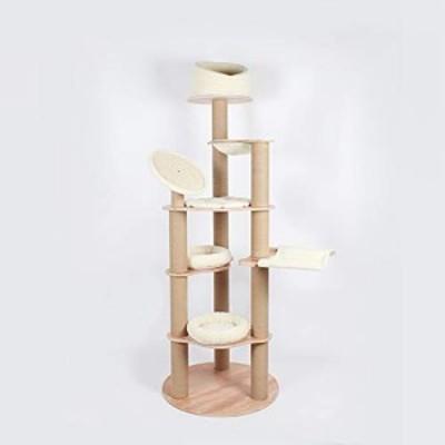 猫登山フレーム、5階建ての大型高級猫の巣、猫の木、猫の引っ掻き板、猫の (新古未使用品)