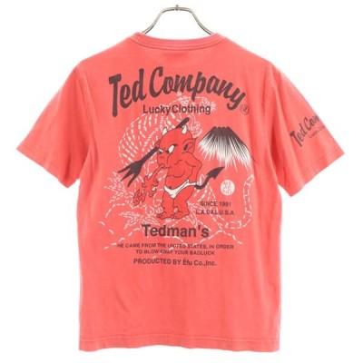 テッドカンパニー 半袖 Tシャツ 38 赤 Ted Company メンズ 古着 200620 メール便可