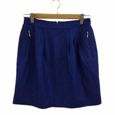【中古】アーバンリサーチ URBAN RESEARCH スカート 台形 タイト ミニ タック 無地 FREE 青 ブルー レディース