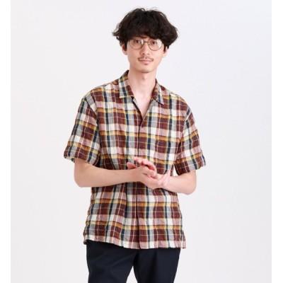 【マッキントッシュフィロソフィー ・ エムピーストア/MACKINTOSH PHILOSOPHY ・ MP STORE】 タータンチェックオープンカラーシャツ
