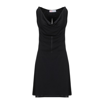 H.H! HEY HANK ミニワンピース&ドレス ブラック 1 ポリエステル 94% / ポリウレタン 6% ミニワンピース&ドレス