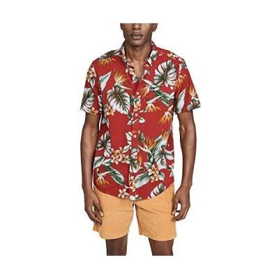 RVCA メンズ モンタラ ボタンアップシャツ US サイズ: Medium カラー: レッド