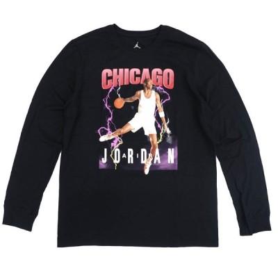 JORDAN Tシャツ Jordan Chicago Sweat ロングスリーブ ナイキ/Nike Black/Red【OCSL】