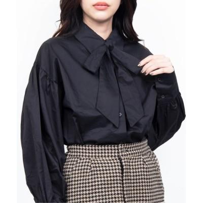 WEGO / WC/リボン付き長袖シャツ WOMEN トップス > シャツ/ブラウス