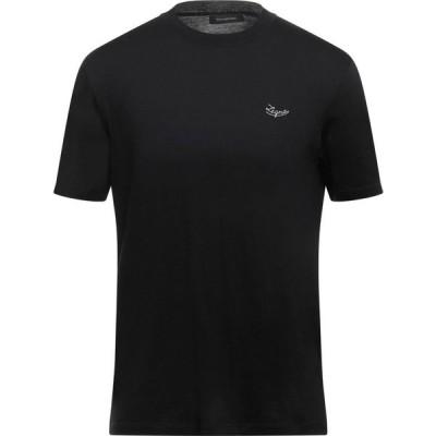 エルメネジルド ゼニア ERMENEGILDO ZEGNA メンズ Tシャツ トップス t-shirt Black