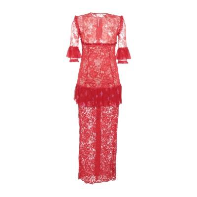 アレッサンドラ・リッチ ALESSANDRA RICH ロングワンピース&ドレス レッド 44 ナイロン 80% / コットン 10% / レーヨン