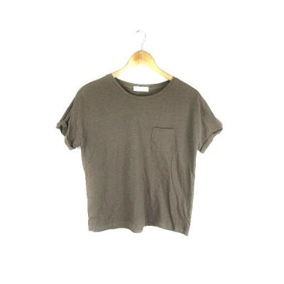 【中古】ビス ViS Tシャツ カットソー 半袖 無地 M グレー /CK レディース 【ベクトル 古着】