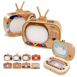 Mr.J家居生活 木製手工乳牙紀念盒-電視相機款