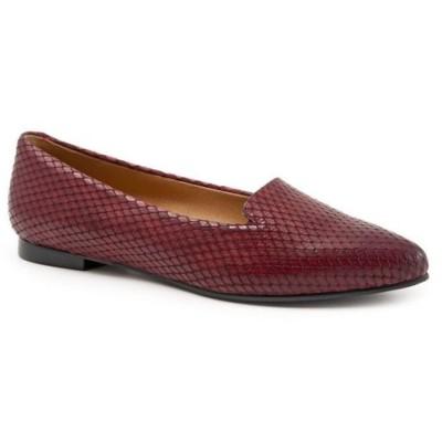トロッターズ Trotters レディース スリッポン・フラット シューズ・靴 Harlowe Flat Burgundy