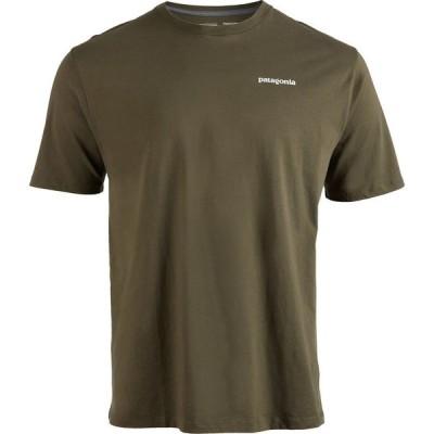 パタゴニア Patagonia メンズ Tシャツ トップス p-6 logo organic t-shirt Basin Green