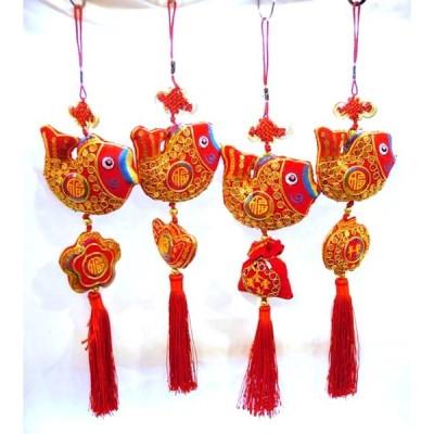 中華装飾付き お魚飾り 4種 221S01