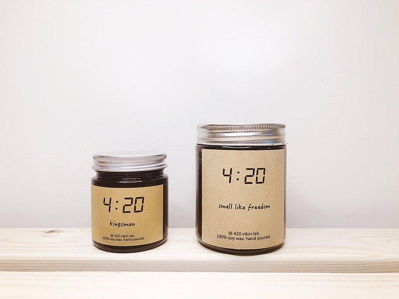 四點二十實驗室 環保天然大豆天然精油香氛蠟燭 棕瓶