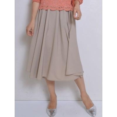 SONO (ソーノ) レディース 【日本製】バックリボンタックギャザースカート L.BEIGE S