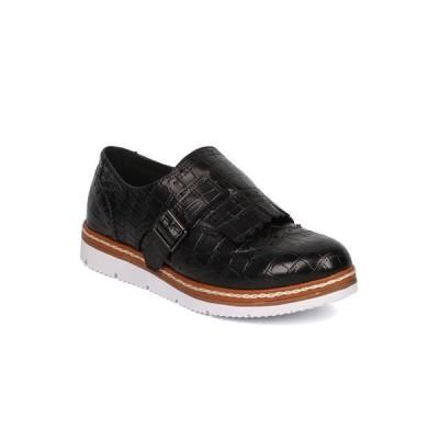 レディース 靴 オックスフォード ローファー New Women Nature Breeze Lyric-04 Leatherette Buckle Fringe Loafer Sneaker