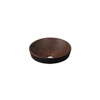 カクダイ 丸型手洗器(窯肌) 493-012-M