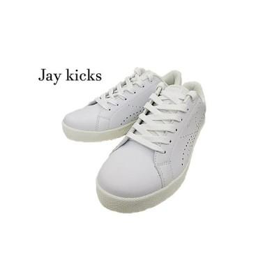 数量限定!【Jay kicks】ジェイキックスjk505  ホワイト メンズ ランニングシューズ靴 シューズ 運動靴 通学靴2E パンチング 仕事靴 普段履き