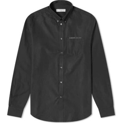 ジバンシー Givenchy メンズ シャツ ワイシャツ トップス Tape Pocket Oxford Shirt Deep Black