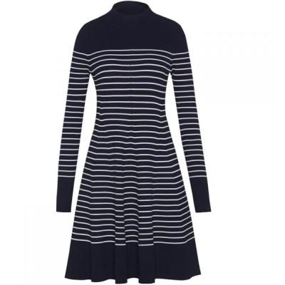 トミー ヒルフィガー Tommy Hilfiger レディース ワンピース ワンピース・ドレス Gaila Stripe Dress Navy