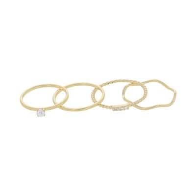 指輪 リング レディース レイヤードリング 4本セット ぐにゃぐにゃ AAR0332-GD ゴールド おしゃれ かわいい 人気