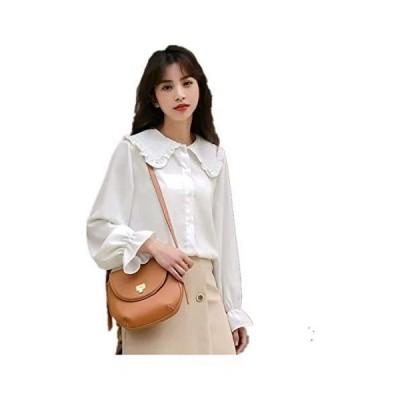 kaerdiya(ケルディヤ)韓国ファッションカジュアル サイドスリットスタンドカラーシャツ レディースブラウス SY201130 (S)