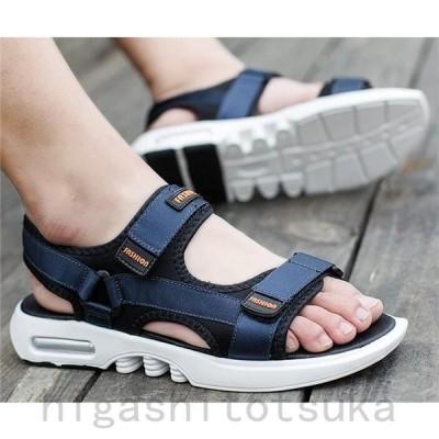 サンダル メンズ スポーツサンダル アウトドア 革靴 カジュアル 歩きやすい 滑らない 夏 2019 厚底サンダル ビーチサンダル