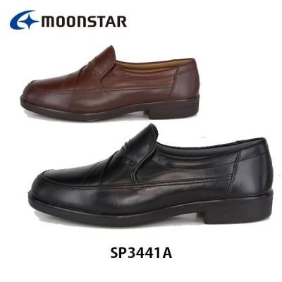 ムーンスター メンズ ビジネスシューズ コンフォート 紳士靴 SP3441A ワイド設計 撥水加工 軽量設計 靴 4E 月星 MOONSTAR SP3441A