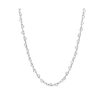 パンドラ アクセサリー ブランド 397961-60 Pandora Jewelry Joined Hearts Sterling Silver Necklace,