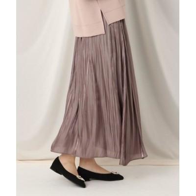 オーロラサテンギャザースカート