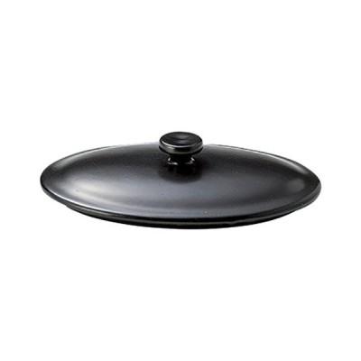 16cm手付楕円グラタン 蓋(黒) 健康鍋 高さ34(mm)/業務用/新品