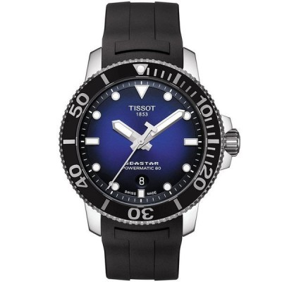 ティソット 腕時計 アクセサリー レディース Men's Swiss Automatic Seastar 1000 Powermatic 80 Black Rubber Strap Diver Watch 43mm No Color
