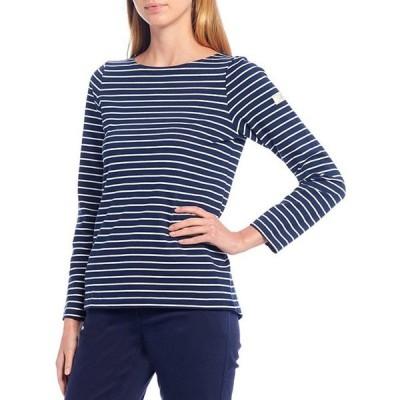 ジュールズ レディース Tシャツ トップス Harbour Stripe Print Knit Jersey Long Sleeve Top