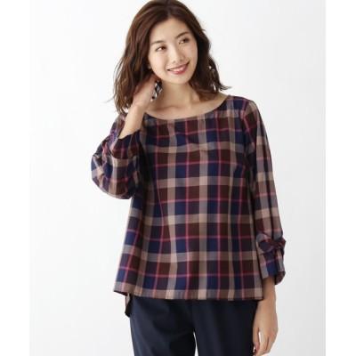 SOUP / 【大きいサイズあり・17号・19号】ライトチェック袖リボンシャツ WOMEN トップス > シャツ/ブラウス