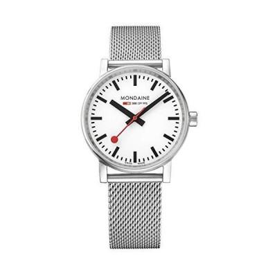 【並行輸入品】Mondaine SBB Swiss-Quartz Watch with Stainless-Steel Strap, Silver, 18 (Model: MSE.35110.SM)