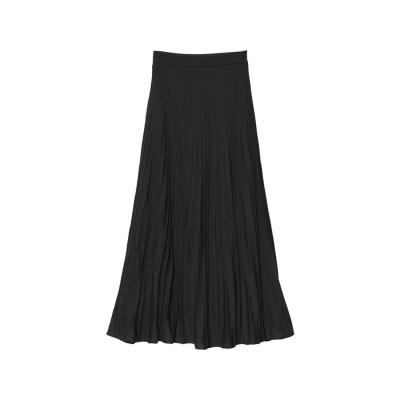 リエディ Re:EDIT [低身長サイズ有]プリーツライクニットスカート (ブラック)