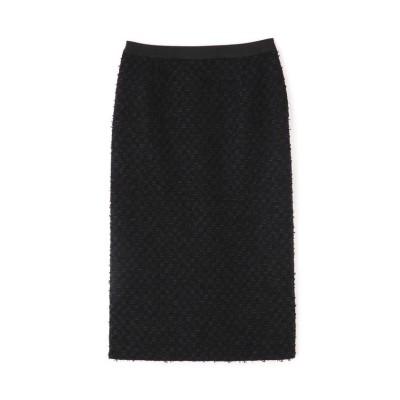 【アドーア】 ペーパーヤーンツイードタイトスカート レディース ブラック 36 ADORE