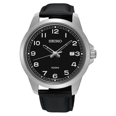 腕時計 セイコー SEIKO SUR159P1,Men's Quartz,Black Dial,STAINLESS CASE,date,100m WR,SUR159