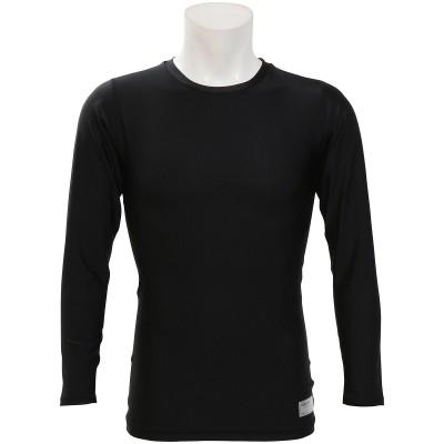 s.a.gear (エスエーギア) ストレッチ長袖丸首アンダーシャツ XL~ BLK メンズ SA-Y19-001-013