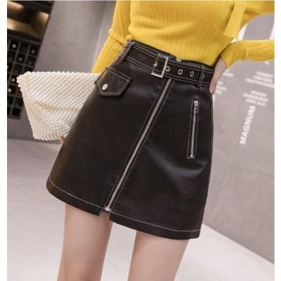 スカート ミニスカート 大きいサイズ レザースカート ガーリー レディース おしゃれ かわいい L69
