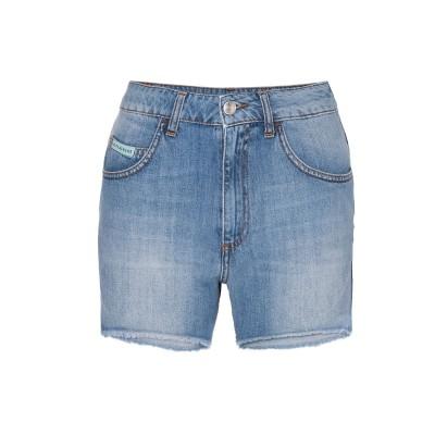 ALEXACHUNG デニムショートパンツ ブルー 30 コットン 100% デニムショートパンツ