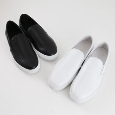 Pantofola dOro パントフォラドーロ カーフレザースリッポン スニーカー BLK/BLACK WHT/WHITE(SM50)【メンズ】