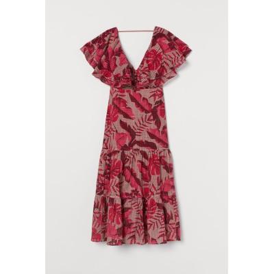 H&M - イギリス刺繍ワンピース - ピンク