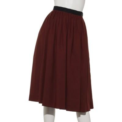 HUMAN WOMAN (ヒューマンウーマン) レディース タック刺繍スカート ブラウン M