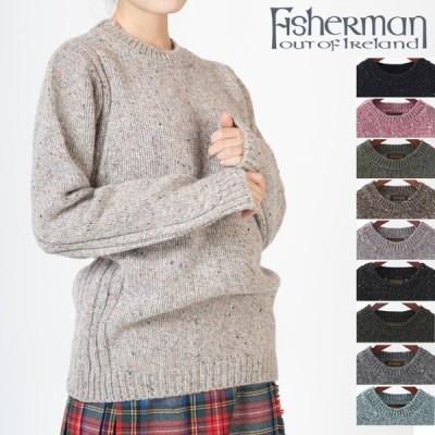 FISHERMAN OUT OF IRELAND クルーネックセーター ユニセックス フィッシャーマン アウト オブ アイルランド バージンウール ニット クルーネック 10色