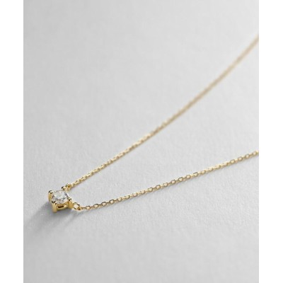 COCOSHNIK(ココシュニック) K18ダイヤモンド 爪留め ネックレス