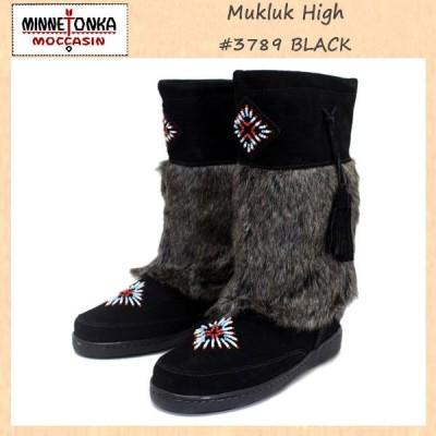 sale セール MINNETONKA(ミネトンカ) Mukluk High Boot(マクラックハイブーツ) #3789 BLACK レディース MT260