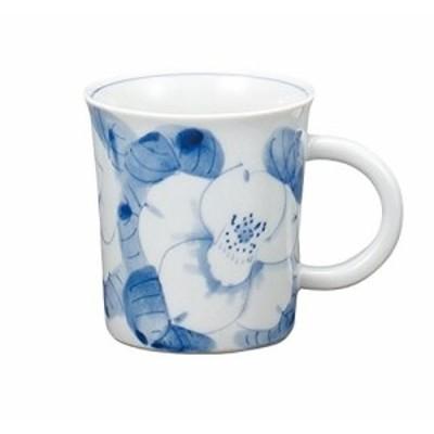 マルサン宮本 九谷焼 マグカップ 白椿 AP3-0808