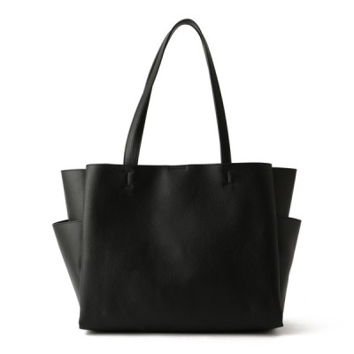 レディース 【在庫限り】SAC婦人合成皮革多ポケットトートバッグ ブラック フリー