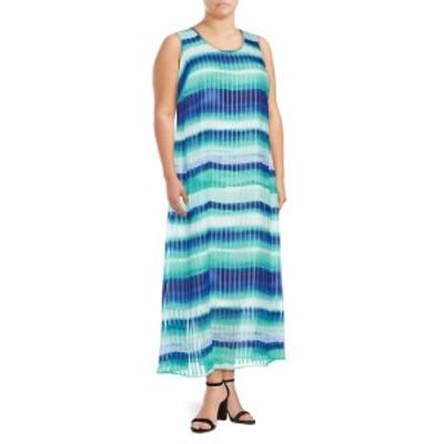 カルバンクライン レディース ワンピース Plus Size Colorblock Maxi Dress