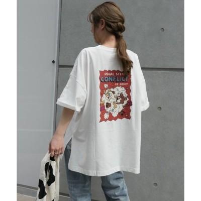 tシャツ Tシャツ 仲良くポコポコプリントTシャツ