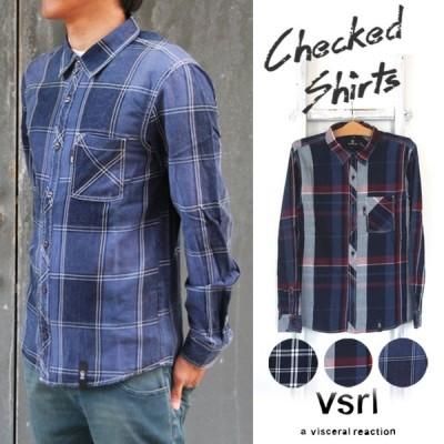 【visceral】 長袖 チェックシャツ